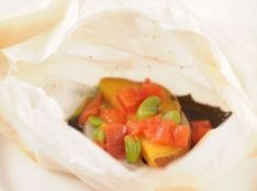 伝統野菜のカルトッチョ(紙包み焼き)